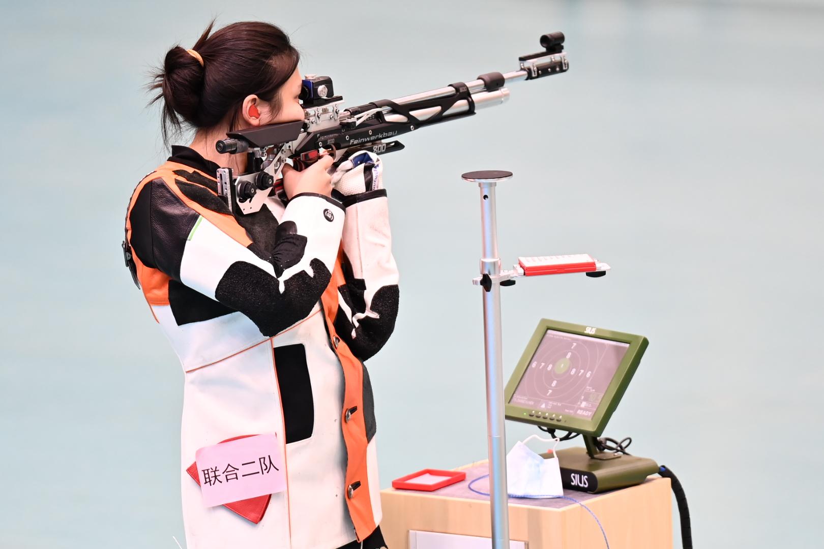 十四运会10米气步枪混合团体赛 河南运动员张雨获铜牌