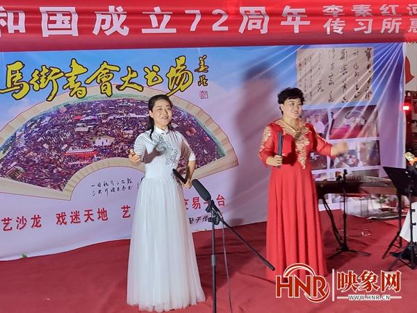 平顶山宝丰县:李素红河南坠子传习所举行惠民演出